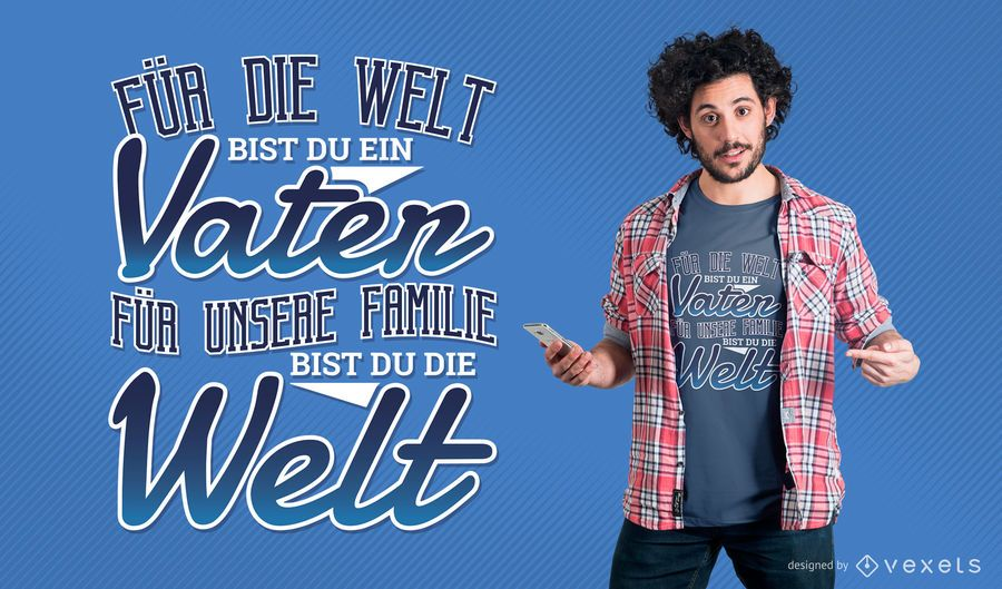 Fathers day German t-shirt design