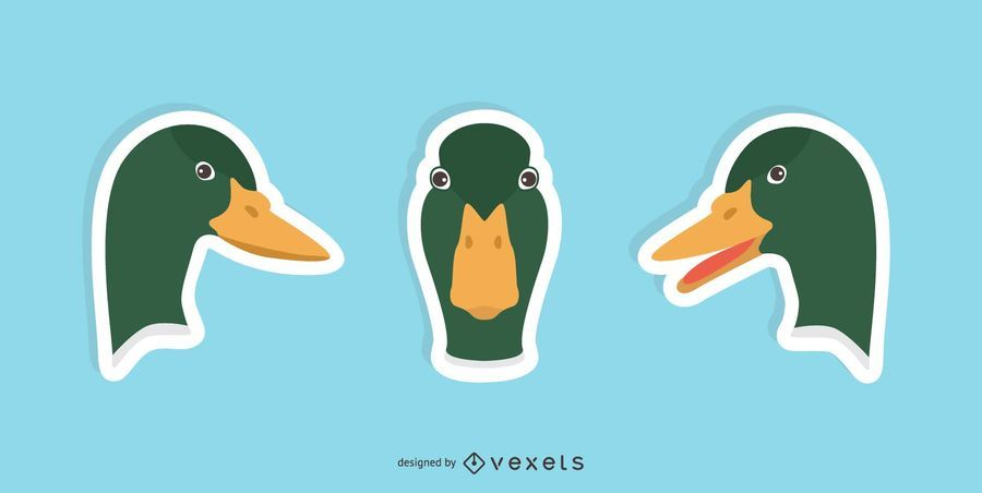 Duck Sticker Design Set