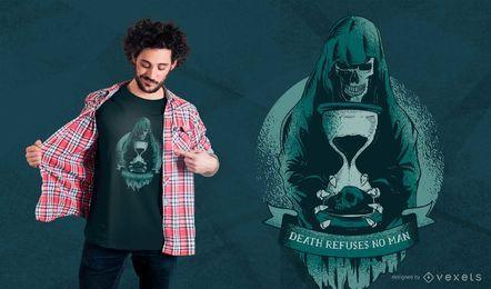 Grim reaper hourglass t-shirt design