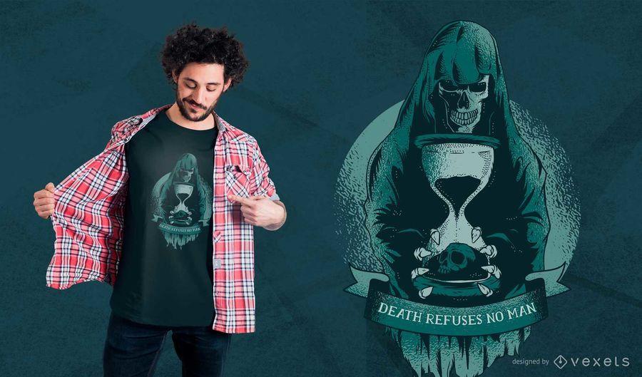 Projeto do t-shirt da ampulheta do Ceifador