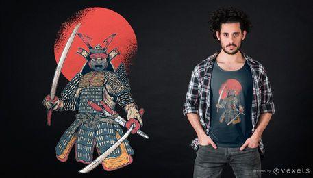 Diseño de camiseta samurai