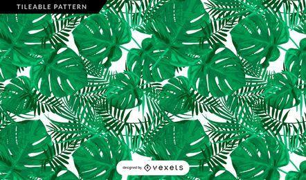 Vegetação tropical, folhas, padrão