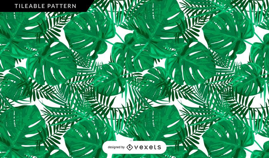Tropical vegetation leaves pattern