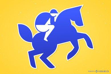 Horse Rider Flat Design