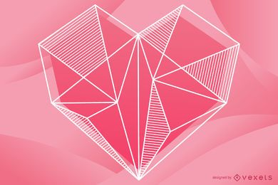 Geometrische Herz Illustration Design