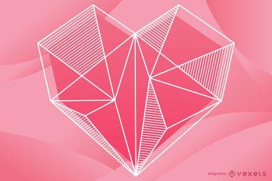 Geometrische Herz Illustration Design