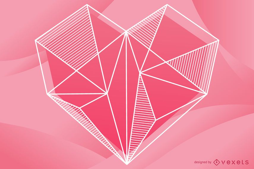 Geometric Heart Illustration Design