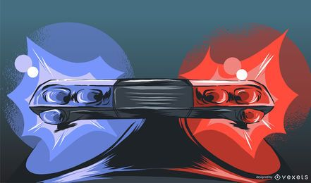 Diseño de ilustración de luces de policía