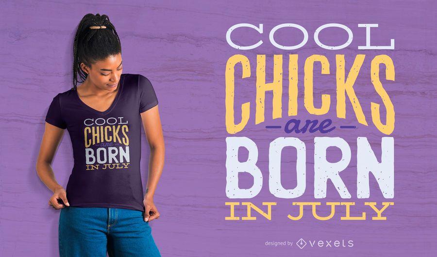 Diseño fresco de la camiseta del cumpleaños de los polluelos