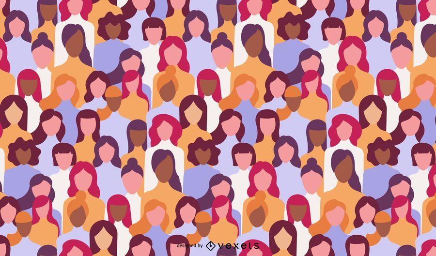Diseño del patrón del día de la mujer