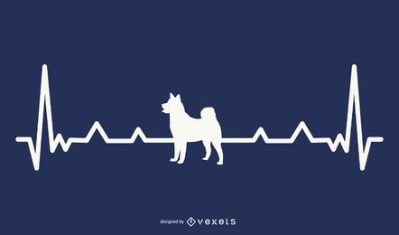 Dog Heartbeat Illustration