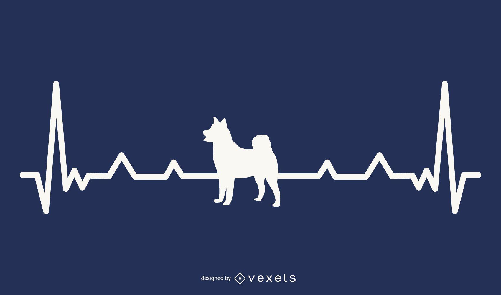 Dog Heartbeat Illustration