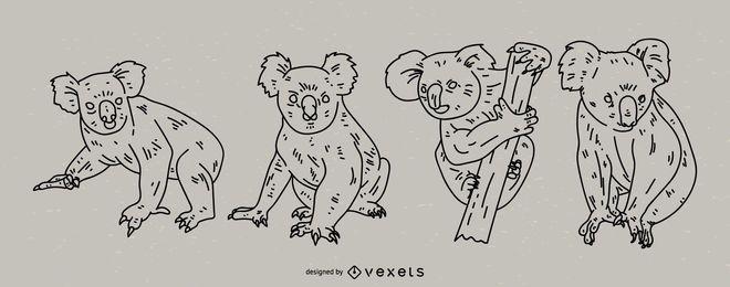 Conjunto de estilo de trazo de Koala
