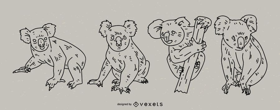 Conjunto de estilo de traçado de coala