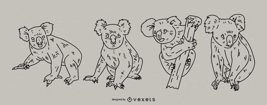 Koala Stroke Style Set