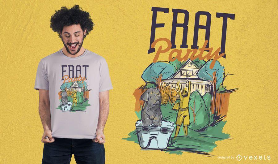 Diseño de camiseta de fiesta de fraternidad