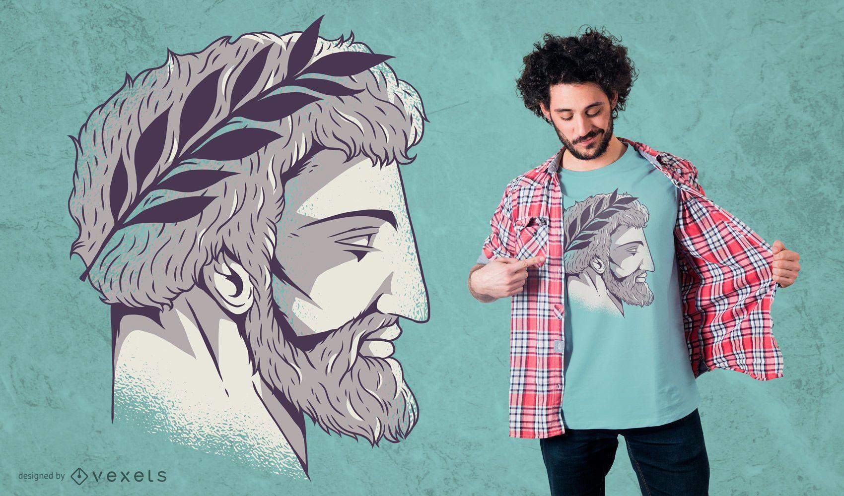 Roman Head T-Shirt Design