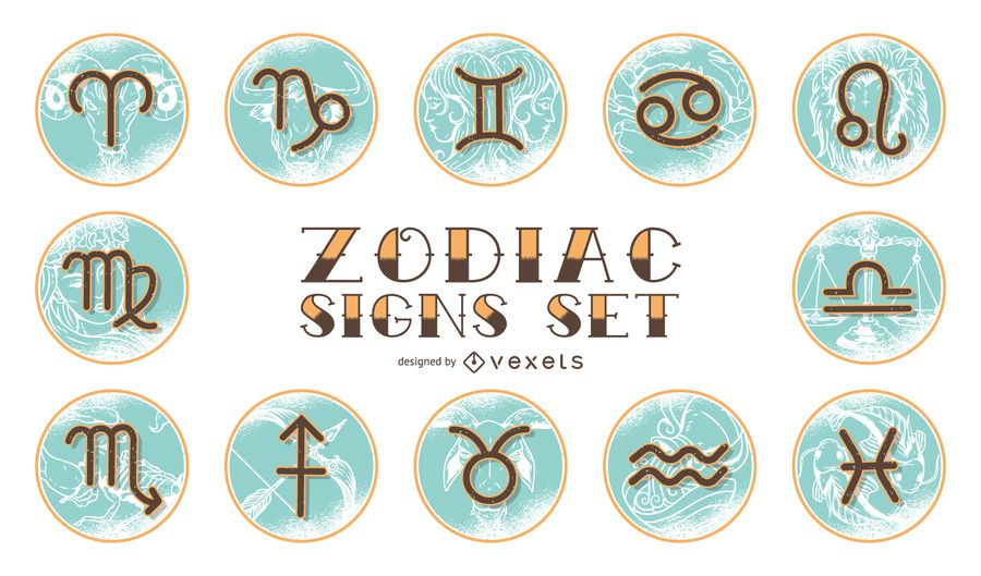 Vintage Horoscope Zodiac Set