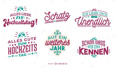 German Anniversary Lettering Set