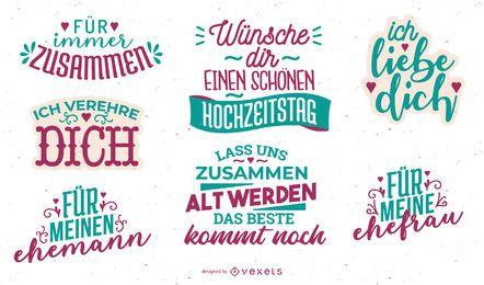 Diseño de letras de aniversario alemán
