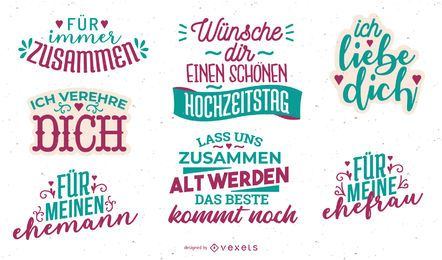 German Anniversary Lettering Design