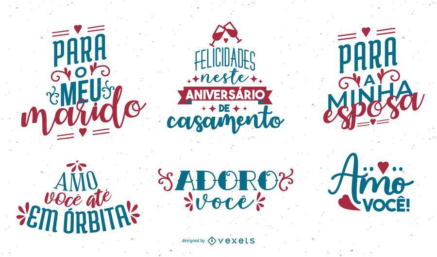 Conjunto de Letras de Aniversário Português