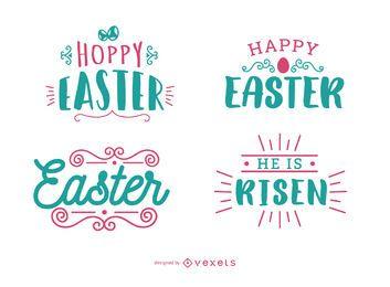 Conjunto de letras de saludo de Pascua