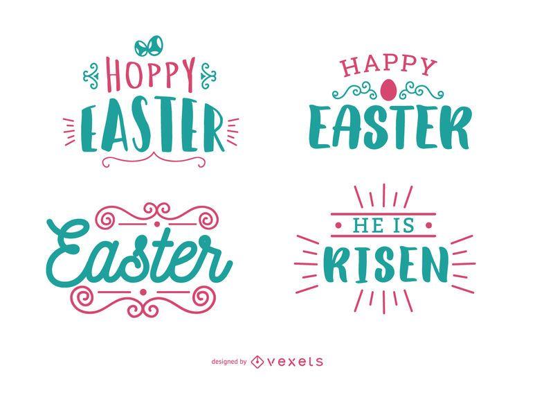 Conjunto de letras de saudação de Páscoa