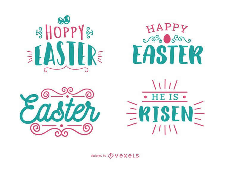 Easter Greeting Lettering Set
