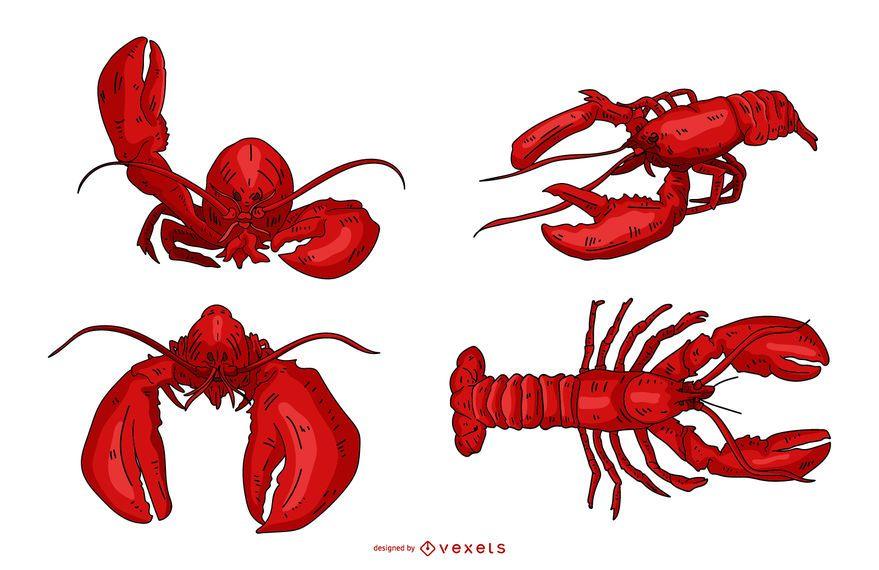 Lobster Illustration Set