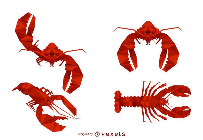 Lobster Polygonal Illustration