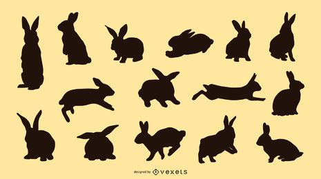 Rabbit Silhouette Set