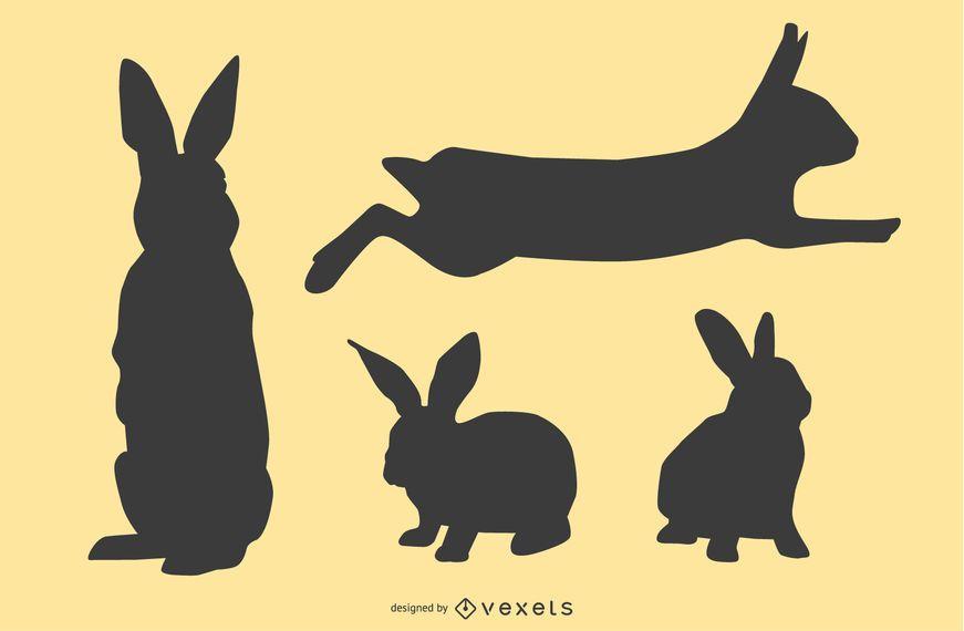 Rabbit Silhouette Set