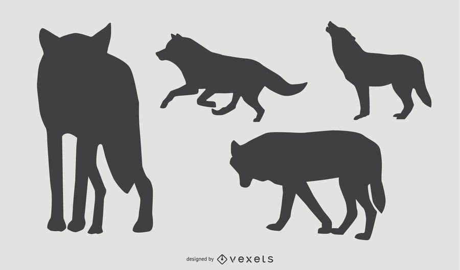Wolf Silhouette Set