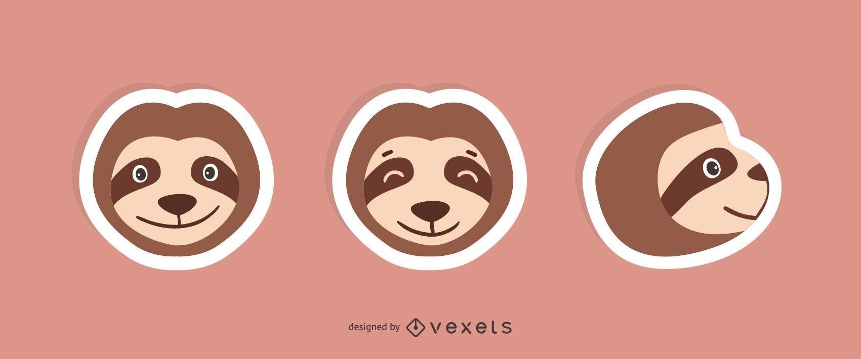 Sloth Sticker Set