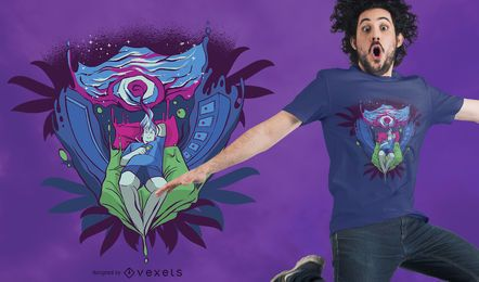 Diseño de camiseta de portal trippy