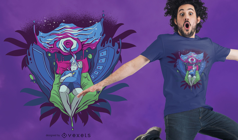 Trippy Portal T-Shirt Design