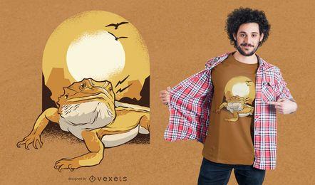 Diseño de camiseta dragón barbudo