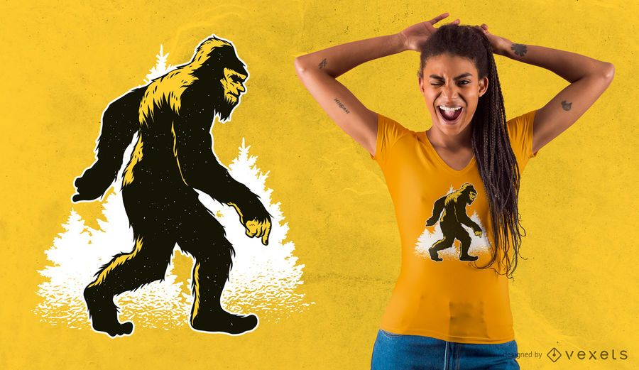Projeto do t-shirt do Yeti de Bigfoot