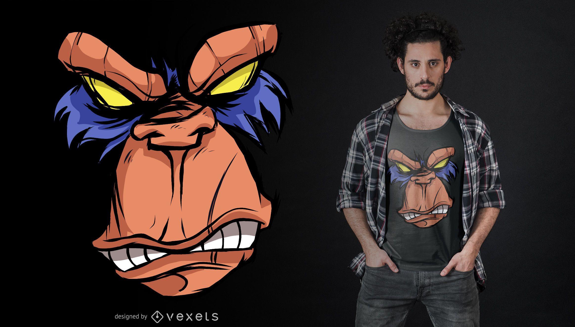 Diseño de camiseta Angry Ape