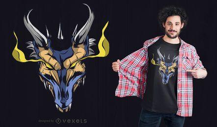 Design poderoso do t-shirt do dragão