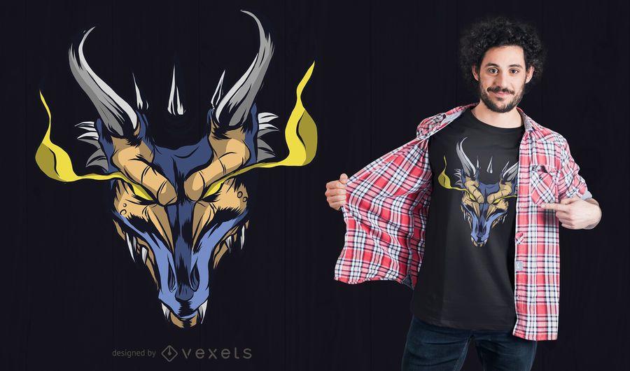 Leistungsstarkes Dragon T-Shirt Design