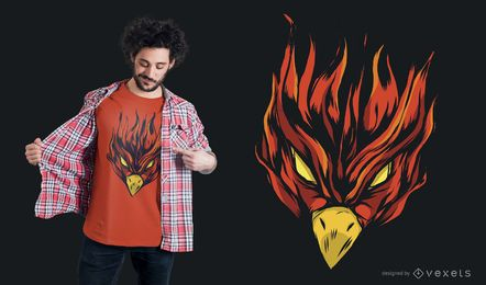 Strong Burning Phoenix T-Shirt Design