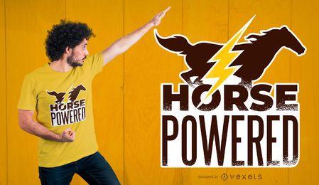 Pferdeangetriebener T-Shirt Entwurf