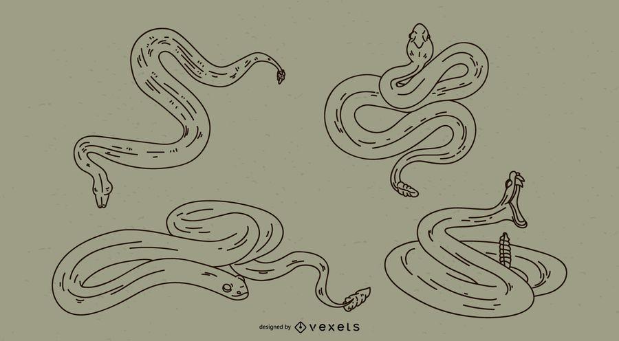 Juego de trazo de serpiente