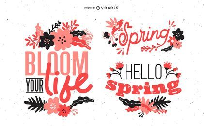 Design de letras de primavera
