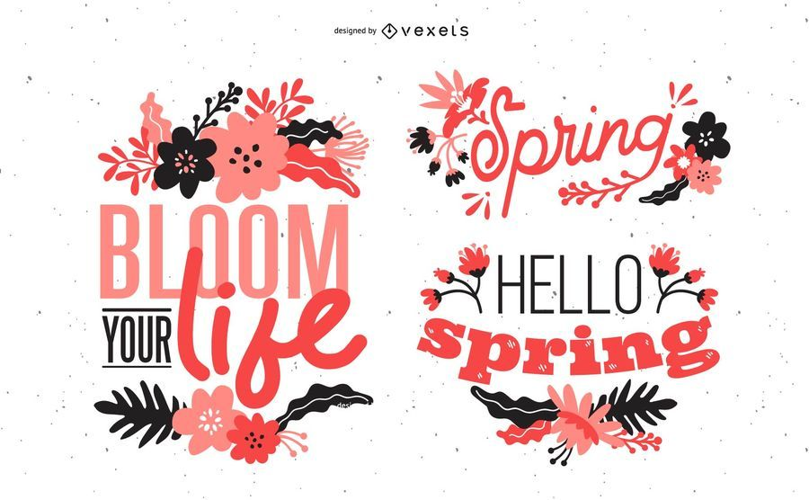Diseño de letras de primavera