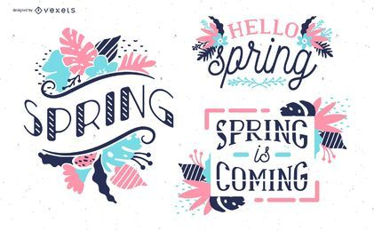 Frühling Blumenmuster Set