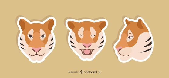 Tiger Sticker Set