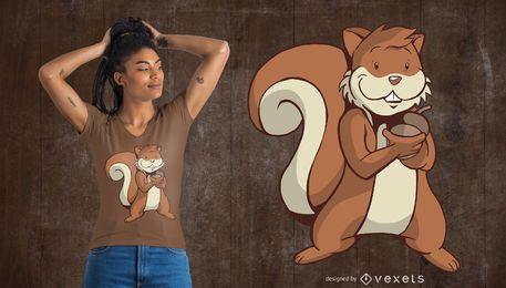 Netter Eichhörnchen-T-Shirt Entwurf